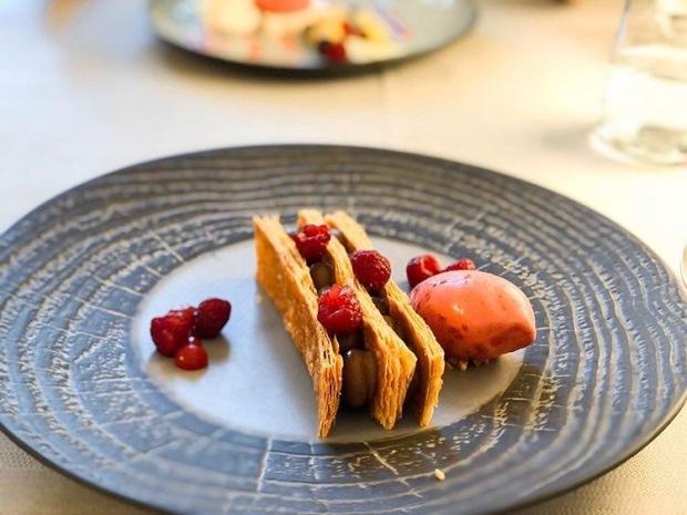 Dessert restaurant Aux Trois Poissons