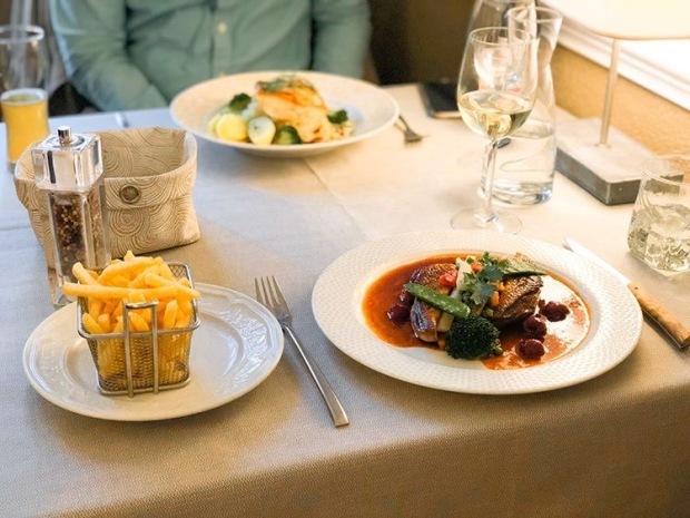 Plat restaurant Aux Trois Poissons